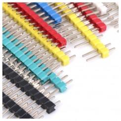 Stiftleiste 1x40pol. gerade farbig