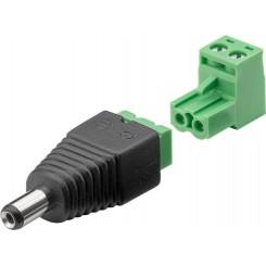 Terminal Block 2-pin zu DC-Stecker 5,5x 2,1mm 2er-Set