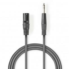 Symmetrisches XLR-Audiokabel | XLR-3-Pol-Stecker – 6,35-mm-Stecker | 5,0 m | Grau