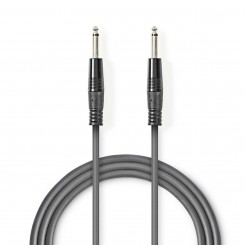 Audiokabel Mono | 6,35-mm-Stecker – 6,35-mm-Stecker | 1,5 m | Grau