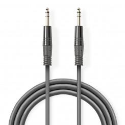 Stereo Audiokabel | 6,35-mm-Stecker – 6,35-mm-Stecker | 5,0 m | Grau