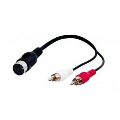 Audio Kabeladapter, DIN-Buchse zu Stereo Cinch-Stecker