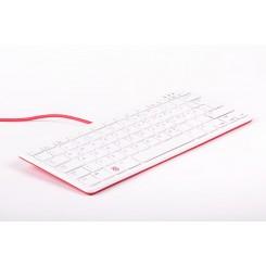 Raspberry Pi Tastatur (DE Layout) & Hub – Rot/Weiß