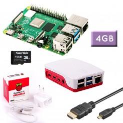 RPi 4 (4GB RAM) Bundle 16GB, weiß