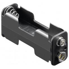 "Batteriehalter , 2x Mignon ""AA"" - mit Druckknopfanschluß"