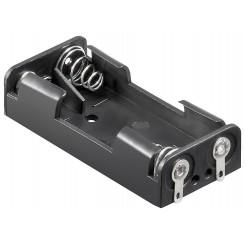 """Batteriehalter , 2x Micro """"AAA"""" - mit Lötanschluß"""