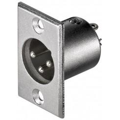 Mikrofon XLR-Einbaustecker, 3 Pin