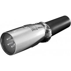 Microfonstecker, 4 polig - mit geschraubter Zugentlastung