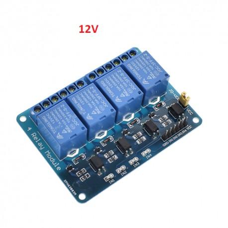 Relaiskarte für Arduino 4-fach 12V