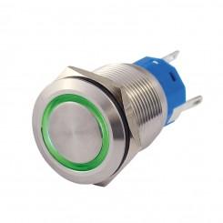 Metallschalter 19 mm mit Ringbel. 1 x Wechsler