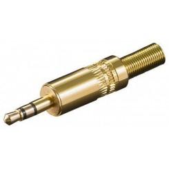 SS35KG Klinkenstecker 3,5 mm Stereo Vergoldetet mit Knickschutz
