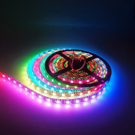 RGB LED Strip mit 144x WS2812B 5050 1m