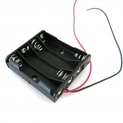 """Batteriehalter , 4x micro """"AAA"""" - mit Kabelanschluss"""