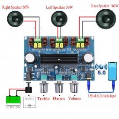 XH-A305 Stereo Audio Bluetooth Amp. 2x50 W + SUB
