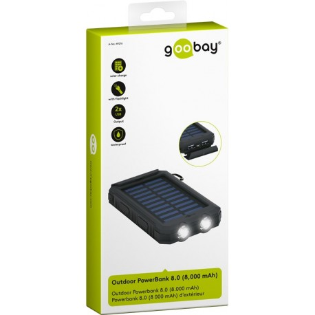 Solar Outdoor Powerbank 8.0 (8.000 mAh)