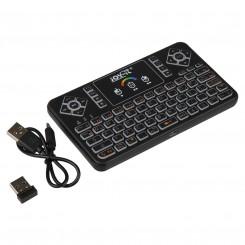 Mini Wireless-Tastatur mit Maus-Touchpad und RGB-Beleuchtung, 2,4 GHz, QWERTZ