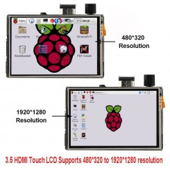"TFT Touch Display 3,5"" 480x320 HDMI-Anschluss"