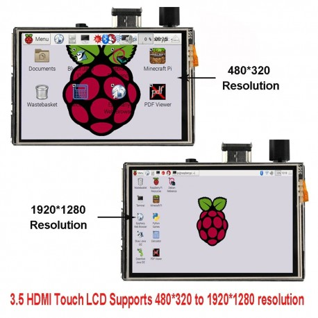 TFT Touch Display 480x320/7 3,5 Zoll HDMI-Anschluss