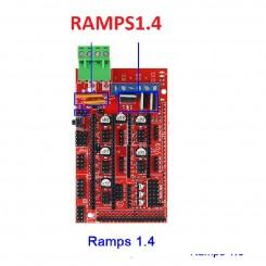 Ramps 1.4 Expansion Control Panel mit Kühlkörper