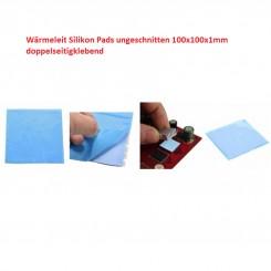 Wärmeleit-Silikon-Pad 100x100x1mm