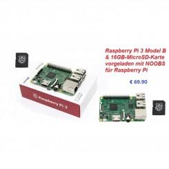 Raspberry Pi 3 Model B mit 16GB NOOBS MicroSD