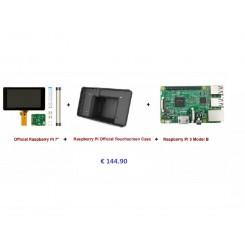 "Raspberry PI 3B+ inkl. 7"" Touch LCD u. Gehäuse schwarz"
