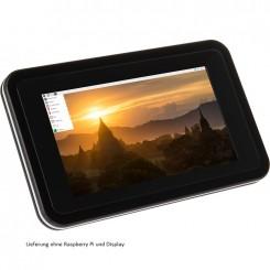 """Gehäuse 7"""" 17,78-cm-Touchdisplay für Raspberry Pi 4, inkl. aktiven Kühler, schwarz"""