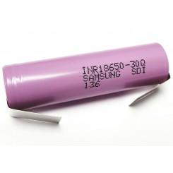 Samsung - INR18650-30Q 3,7V, 3000mAh (15A) mit Lötfahne