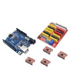 CNC V3 Shield + UNO R3 + A4988 Driver Module Board für Arduino 3D Drucker
