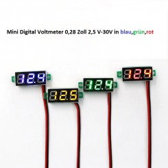 "Mini Digital Voltmeter 0,28"" 2,5 V-30V"