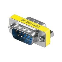 Gender Changer Mini D-Sub Stecker auf D-Sub Stecker 9 polig