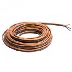 Kupferlitze Kunststoff isoliert 3 x 0,14 m1m² 5 m Ring Fleischmann hellbraun/schwarz/dunkelbraun