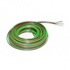 Kupferlitze Kunststoff isoliert 3 x 0,14 mm² 5 m Ring Roco rot/grün/schwarz