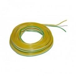 Kupferlitze Kunststoff isoliert 3 x 0,14 mm² 5 m Ring Trix gelb/weiß/grün