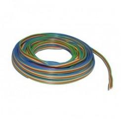 Kupferlitze Kunststoff isoliert 4 x 0,14 mm² 5 m Ring 4-farbig blau/gelb/rot/grün