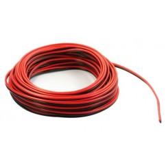 Kupferlitze Kunststoff isoliert 2 x 0,14 mm² 50 m Ring rot/schwarz