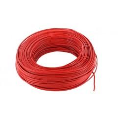 Kupferlitze Kunststoff isoliert 2 x 0,14 mm² 100 m Ring rot