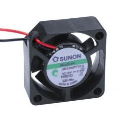 SUNON Lüfter Vapo-Lager 12 Vdc 25 x 25 x 10 mm mit Litze AWG28 schwarz