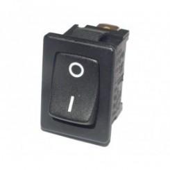 Wippschalter einpoliger Ausschalter schwarz mit Markierung I/O
