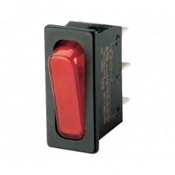 Wippschalter 1 pol 20A 250Vac Rot Beleuchtet
