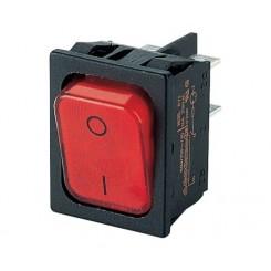 Wippschalter 2 pol 20A 250Vac Rot Beleuchtet