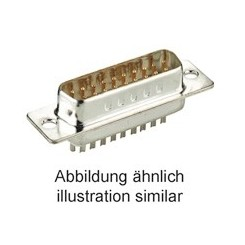 D-Sub-Stiftleiste 15 polig Lötpins verzinnt
