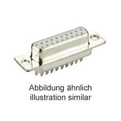 D-Sub-Buchsenleiste 9 polig Lötkelche verzinnt