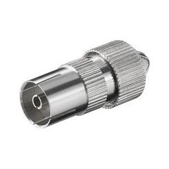 Koax-Kupplung mit Schraubbefestigung - Metall