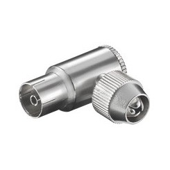 Koax-Winkelkupplung mit Schraubbefestigung - Metall