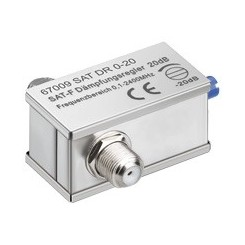 Dämpfungsregler, 0-20 dB, 0,1 - 2400 MHz