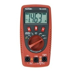 TESTBOY Digital-Multimeter mit Kabelbruchdetektor und LED-Taschenlampe