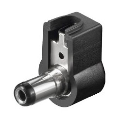 DC-Stecker, abgewinkelt 2,1 mm x 5,5 mm