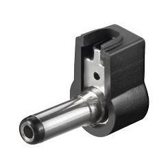 DC-Stecker, abgewinkelt 2,5 mm x 5,5 mm