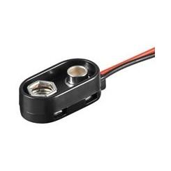 Batterieclip für 9-V Blöcke , I-Form (Spritzwassergeschützt)